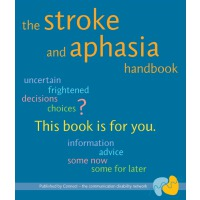 a photo of the cover of the stroke and aphasia handbook