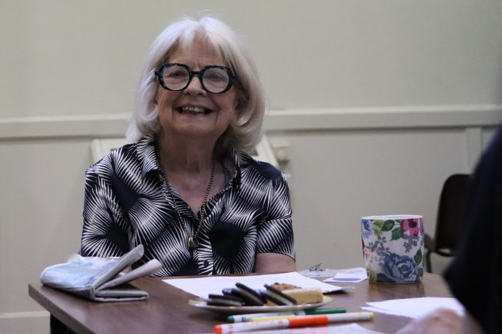 A photo of one of our members and trustees Virginia